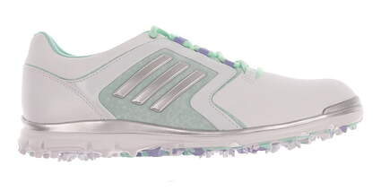 New Womens Golf Shoe Adidas Adistar Tour Medium 8 White/Green MSRP $120