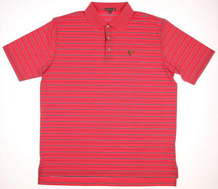 New W/ Logo Mens Peter Millar Golf Polo X-Large XL Pink MSRP $90