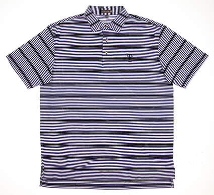 New W/ Logo Mens Peter Millar Golf Polo Large L Blue MSRP $92