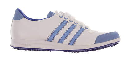 New Womens Golf Shoe Adidas Adicross Classic Medium 6 White/Blue MSRP $80