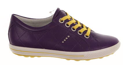New Womens Golf Shoes Ecco Golf Street Medium 9-9.5 Imperial Purple MSRP $150