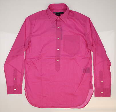 New Womens Ralph Lauren Golf Cotton Blakely Button Up Long Sleeve Shirt Small S (6) Pink MSRP $90 0964485