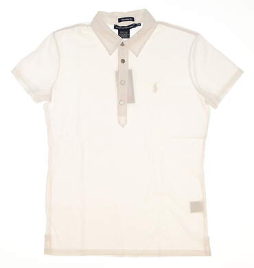 New Womens Ralph Lauren Golf Classic Golf Fit Cotton Polo Small S White MSRP $90 0490105