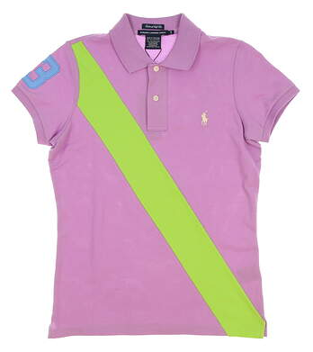 New Womens Ralph Lauren Golf Tailored Golf Fit Stretch Cotton Polo Small S Purple MSRP $90 0476343