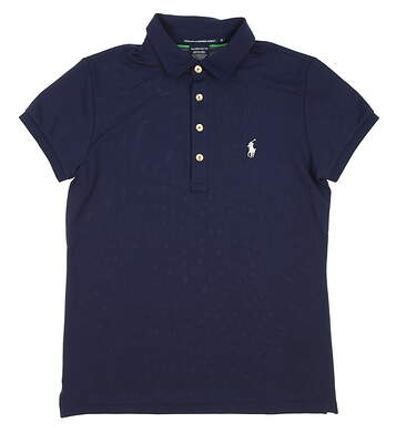 New Womens Ralph Lauren Golf Tailored Golf Fit Polo Small S Navy Blue MSRP $90 0476372