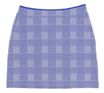 New Womens Ralph Lauren Polo Golf Check Skort Size Medium M Blue / White MSRP $145