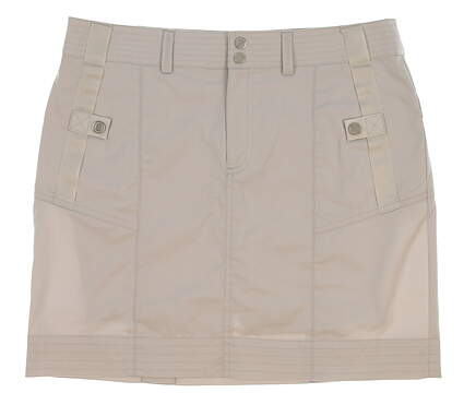 New Womens Ralph Lauren Golf Ribbon Detail Skort Size 6 Gray MSRP $125 3864815
