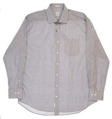 New Mens Peter Millar Hyde Houndstooth Sport Shirt X-Large XL Multi (Bison) MSRP $125 MF16W30CSL