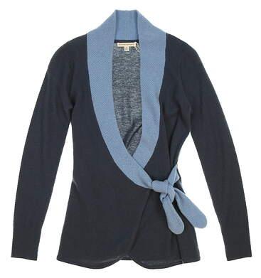 New Womens Fairway & Greene Darling Cashmere Wrap Caridgan Sweater X-Small XS Blue MSRP $335 F12273