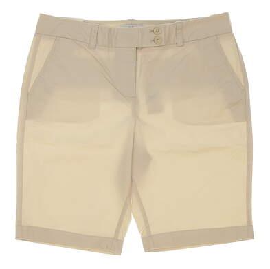 New Womens Vineyard Vines Golf Shorts Size 8 Ecru MSRP $88