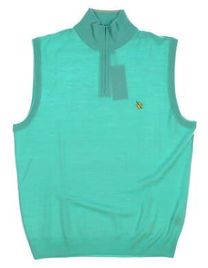 New W/ Logo Mens Ralph Lauren Golf Sweater Vest Medium M Green MSRP $150