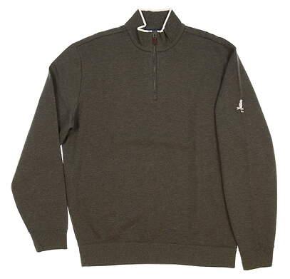 New W/ Logo Mens Ralph Lauren Golf 1/4 Zip Sweater Medium M Gray MSRP $99