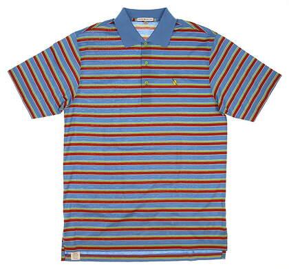 New W/ Logo Mens Peter Millar Golf Polo Medium M Multi MSRP $95