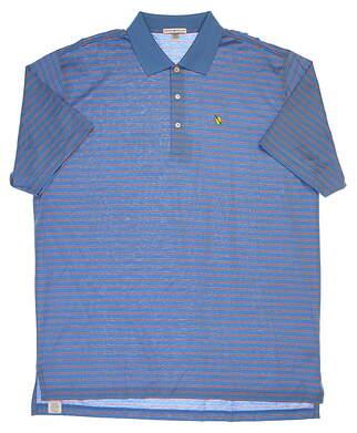 New W/ Logo Mens Peter Millar Golf Polo XX-Large XXL Blue MSRP $95
