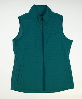 New Womens Straight Down Golf Vest Large L Blue MSRP $60