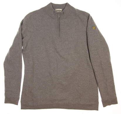New W/ Logo Womens Fairway & Greene 1/4 Zip Golf Wind Sweater X-Large XL Gray MSRP $125