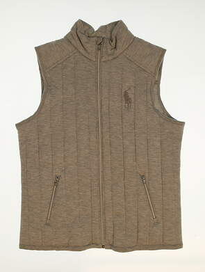 New Womens Ralph Lauren Golf Vest Large L Gray MSRP $197.50
