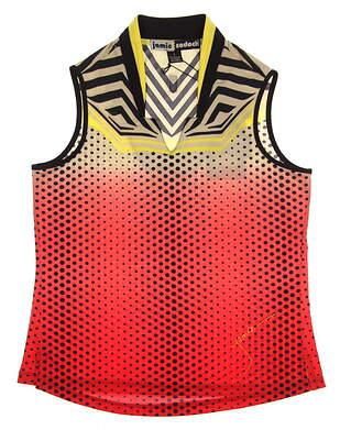 New Womens Jamie Sadock Gradient Print Sleeveless Golf Polo Small S Multi (Firework) MSRP $89 61228