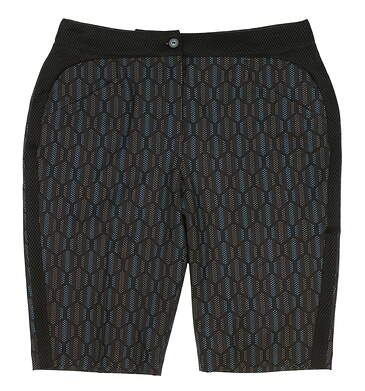 New Womens EP Pro Golf Melbourne Hexagon Dot Print Shorts Size 8 Black Multi MSRP $78 8431IC