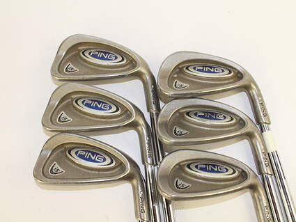 Ping i5 Iron Set 5-PW Stock Steel Shaft Steel Regular Right Handed White Dot 38 in