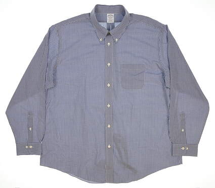 New Mens Brooks Brothers Button Up XX-Large XXL Blue MSRP $95