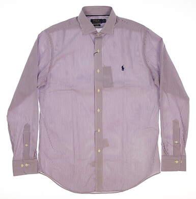New Mens Ralph Lauren Button Up Medium M Purple MSRP $110