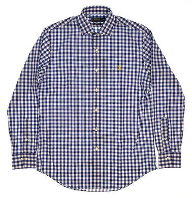New Mens Ralph Lauren Button Up Medium M Blue MSRP $110