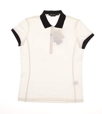 New Womens Ralph Lauren Golf Polo Large L White MSRP $89