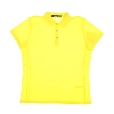 New Womens Ralph Lauren Golf Polo Large L Yellow MSRP $89