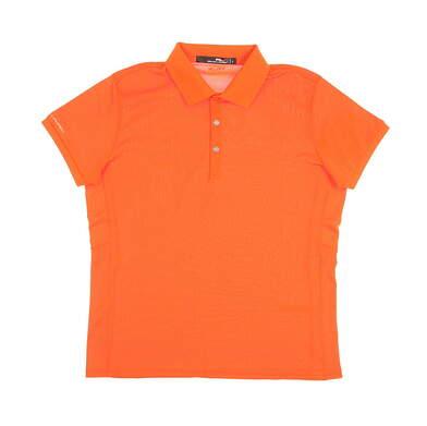 New Womens Ralph Lauren Golf Polo Large L Orange MSRP $89