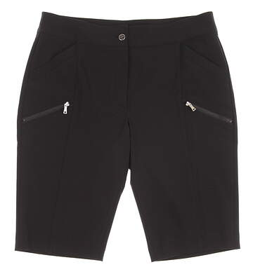 New Womens EP Pro Golf Paradise Found Stretch Micro Twill Shorts Size 6 Black MSRP $78 8631KC