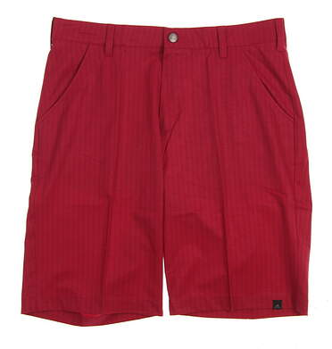 New Mens Adidas Golf Ultimate Dot Herringbone Shorts Size 32 Red (Unity Pink) MSRP $70 AF2726