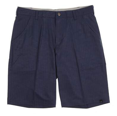 New Mens Adidas Golf Ultimate Dot Herringbone Shorts Size 32 Navy Blue (Mineral Blue / Collegiate Navy) MSRP $70 AE9889