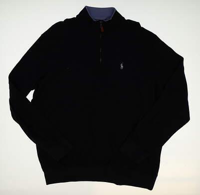 New Mens Ralph Lauren 1/4 Zip Golf Pullover X-Large XL Blue MSRP $120