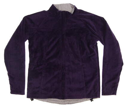 New Womens Peter Millar Golf Jacket Medium M Purple MSRP $145