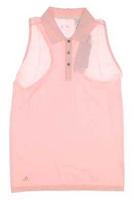 New Womens Adidas Sleeveless Golf Polo Medium M Pink MSRP $70