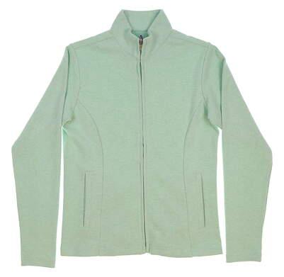 New Womens Peter Millar Golf Full Zip Mock Neck X-Small XS Green MSRP $125