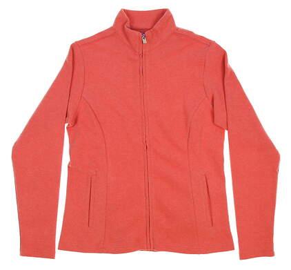 New Womens Peter Millar Golf Full Zip Mock Neck Small S Orange MSRP $125
