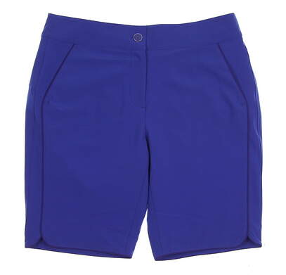 New Womens EP Pro Golf Sugar Rush Tour Tech Stretch Reflective Piped Shorts Size 8 Blue Crush MSRP $78 8621KB