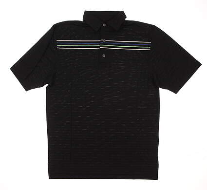 New Mens Footjoy Bob Vokey Design Logo Golf Polo Large L Black MSRP $82