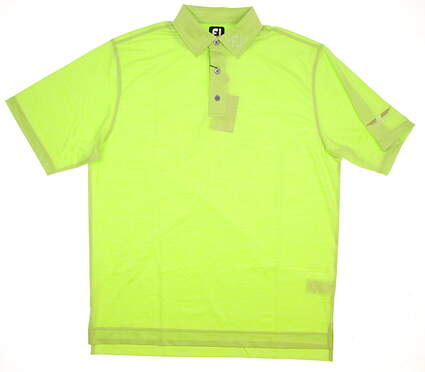 New Mens Footjoy Bob Vokey Design Logo Golf Polo Large L Green MSRP $60