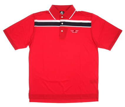 New Mens Footjoy Bob Vokey Design Logo Golf Polo Small S Red MSRP $66