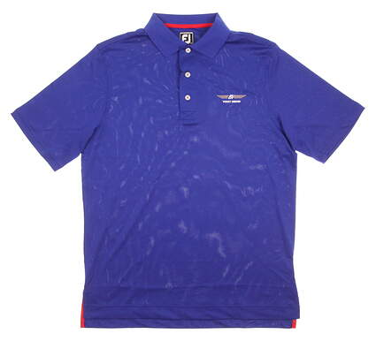 New Mens Footjoy Bob Vokey Design Logo Golf Polo Medium M Blue MSRP $60