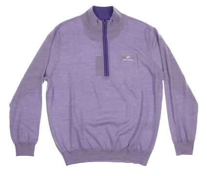 New Mens Footjoy Bob Vokey Design Logo 1/4 Zip Golf Sweater Large L Purple MSRP $120