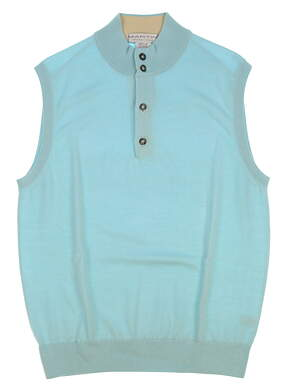 New Mens MARTIN GOLF Sweater Vest Medium M Blue MSRP $144