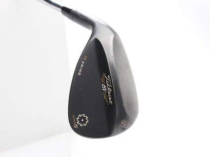 Titleist Vokey SM5 Raw Black Wedge Sand SW 54* 10 Deg Bounce M Grind True Temper Dynamic Gold Steel Wedge Flex Left Handed 35.75 in