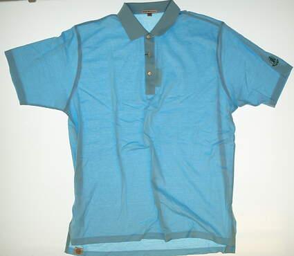 New W/ Logo Mens Peter Millar Golf Polo XX-Large XXL Blue MSRP $89