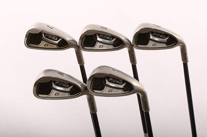 Ping G20 Iron Set 7-PW SW Ping TFC 80i Graphite Ladies Right Handed Gold Dot 36 in