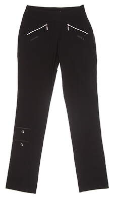 New Womens Jamie Sadock Skinnyliscious Golf Pants Size 0 Jet MSRP $120 41318