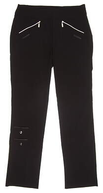 New Womens Jamie Sadock Skinnyliscious Golf Pants Size 12 Jet MSRP $120
